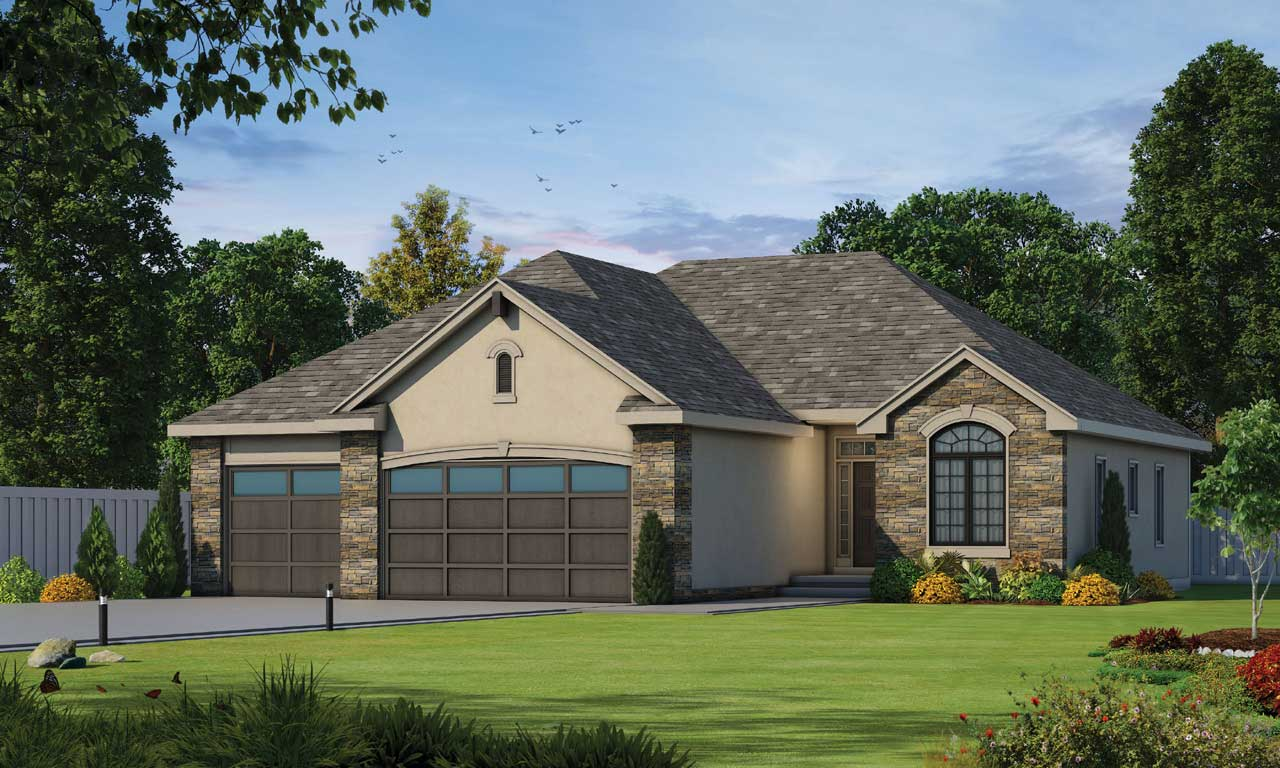 French-country Style Home Design Plan: 10-1379