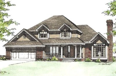 Traditional Style Home Design Plan: 10-138