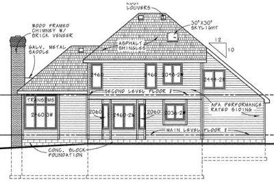 Rear Elevation Plan: 10-138