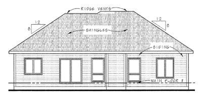 Rear Elevation Plan: 10-1382