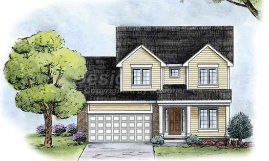 Traditional Style Home Design Plan: 10-1383