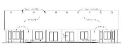 Rear Elevation Plan: 10-1386