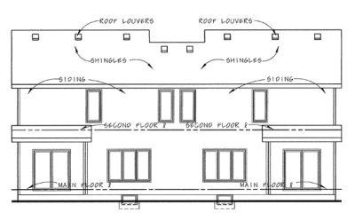 Rear Elevation Plan: 10-1387
