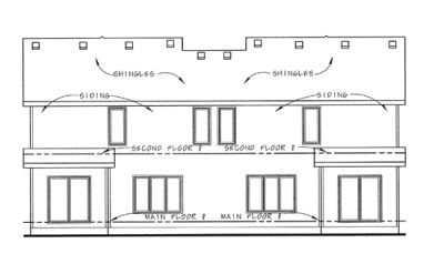 Rear Elevation Plan: 10-1389