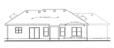 Rear Elevation Plan: 10-1390