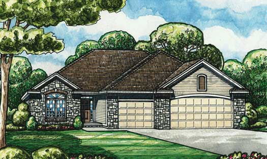 Traditional Style Floor Plans Plan: 10-1392