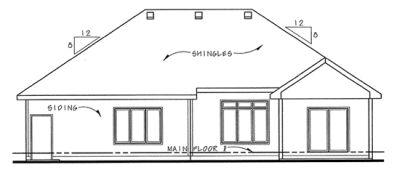 Rear Elevation Plan: 10-1392