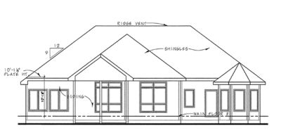 Rear Elevation Plan: 10-1394