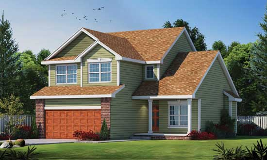 Traditional Style Home Design Plan: 10-1395