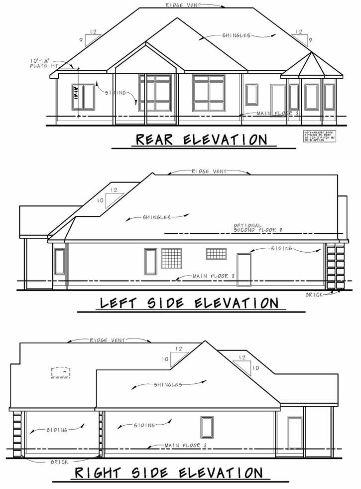 Rear Elevation Plan: 10-1397