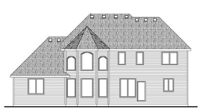 Rear Elevation Plan: 10-1400