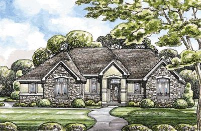 Traditional Style Home Design Plan: 10-1401