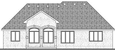 Rear Elevation Plan: 10-1401