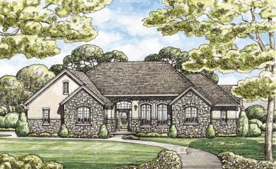 French-country Style House Plans Plan: 10-1404