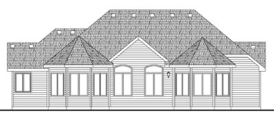 Rear Elevation Plan: 10-1404