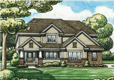 Craftsman Style Home Design Plan: 10-1406