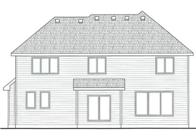 Rear Elevation Plan: 10-1406