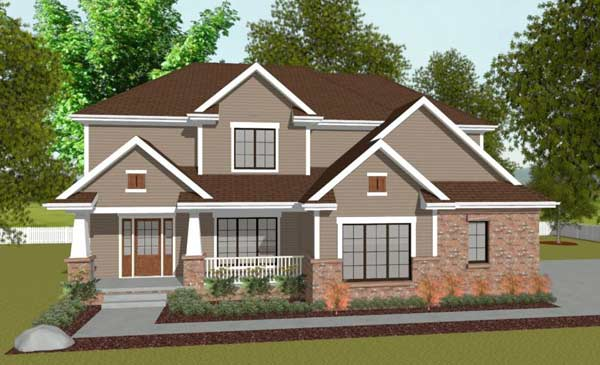 Craftsman Style Floor Plans 10-1408