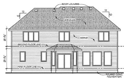 Rear Elevation Plan: 10-1408