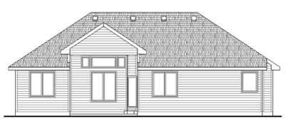 Rear Elevation Plan: 10-1410