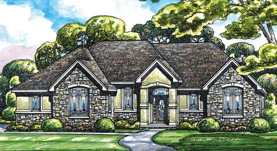 Traditional Style Home Design Plan: 10-1411