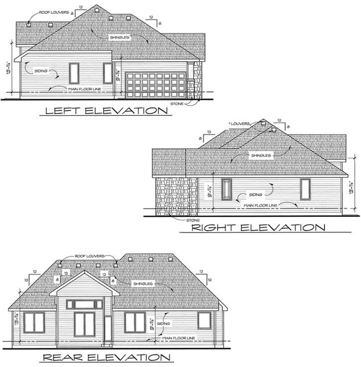 Rear Elevations Plan:10-1411