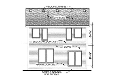 Rear Elevation Plan: 10-1414
