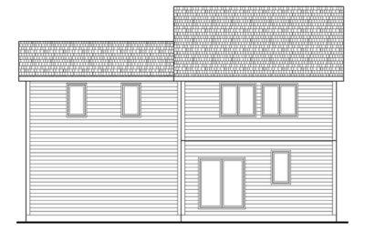 Rear Elevation Plan: 10-1417