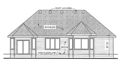 Rear Elevation Plan: 10-1418