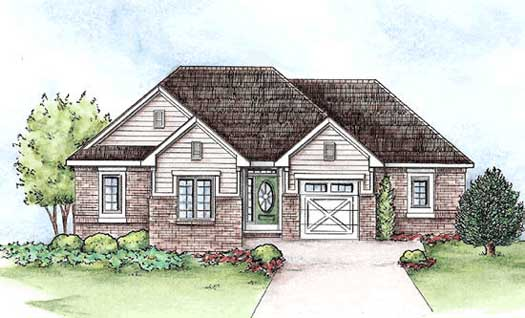 Traditional Style Home Design Plan: 10-1420