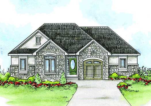 French-country Style House Plans Plan: 10-1421