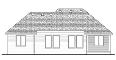 Rear Elevation Plan: 10-1421