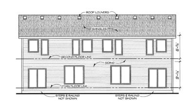 Rear Elevation Plan: 10-1422