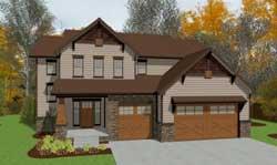Craftsman Style House Plans Plan: 10-1427