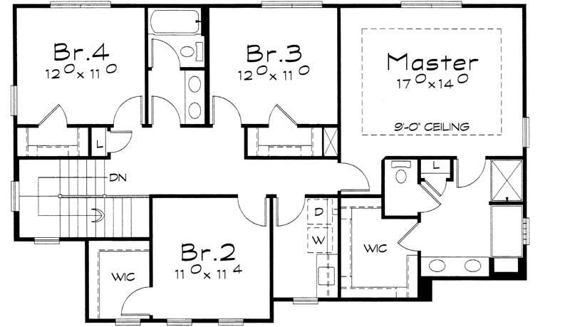Upper/Second Floor Plan: 10-1427