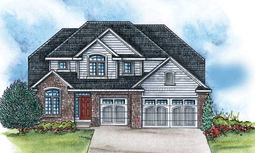Traditional Style Home Design Plan: 10-1428