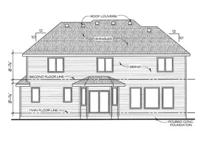 Rear Elevation Plan: 10-1428