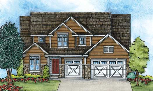 Craftsman Style Home Design 10-1429