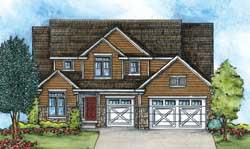 Craftsman Style Home Design Plan: 10-1429