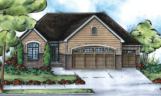 Traditional Style Home Design Plan: 10-1430