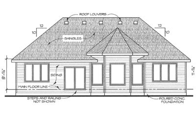 Rear Elevation Plan: 10-1431