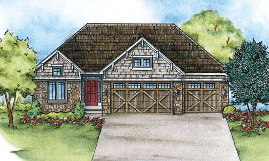 Craftsman Style Floor Plans Plan: 10-1432