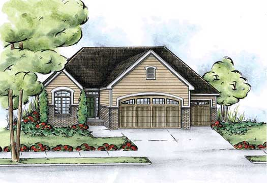 Traditional Style Home Design Plan: 10-1433