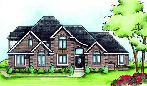 European Style Floor Plans Plan: 10-1434
