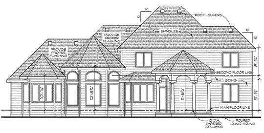 Rear Elevation Plan: 10-1434