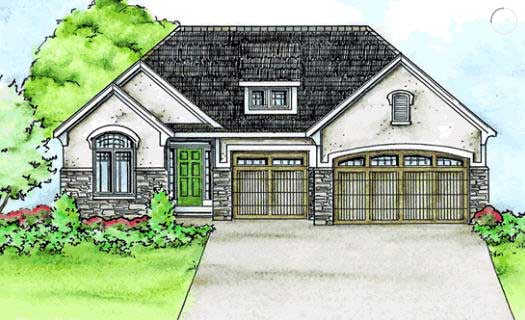 French-country Style Floor Plans Plan: 10-1435