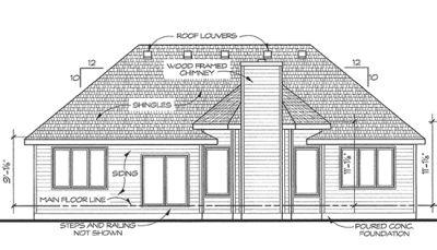 Rear Elevation Plan: 10-1435