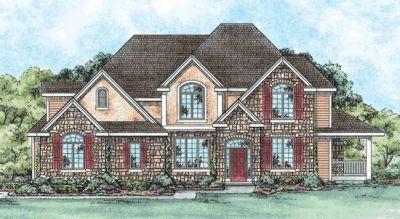 European Style House Plans Plan: 10-1436