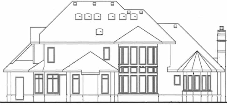 Rear Elevations Plan:10-1439