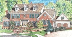 New-England-Colonial Style Home Design Plan: 10-1440